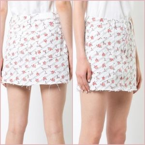Re/Done Floral Jean Skirt 26 / S